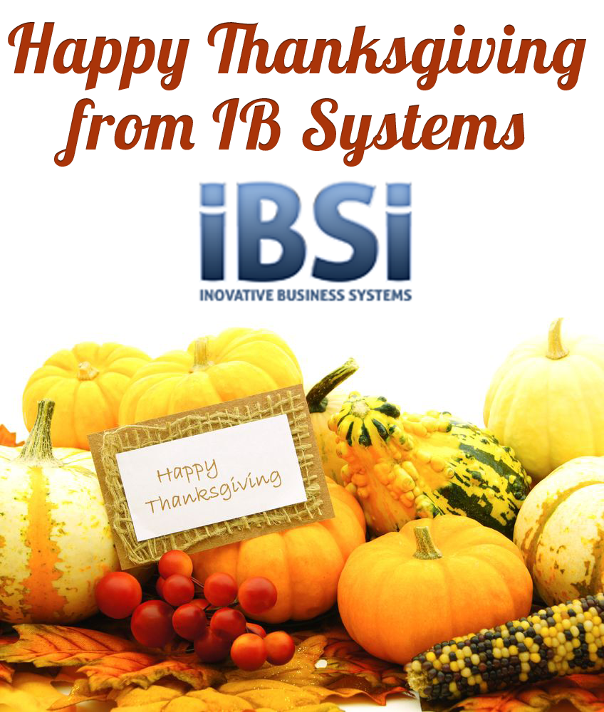 Happy and Safe Thanksgiving from IB Systems
